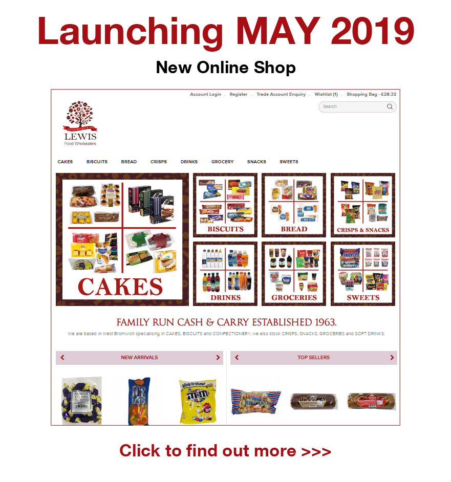 Lewis Food Wholesalers - Online shopping delivery service launching May 2019